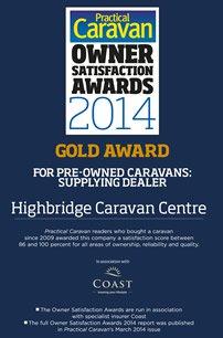 Practical Caravan Pre-Owned Caravans: Supplying Dealer Gold Award 2014
