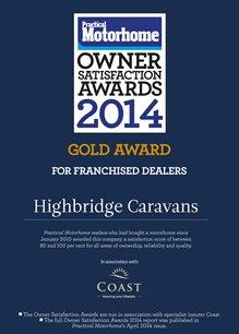 Practical Motorhome Pre-Owned Motorhomes: Supplying Dealer Gold Award 2014